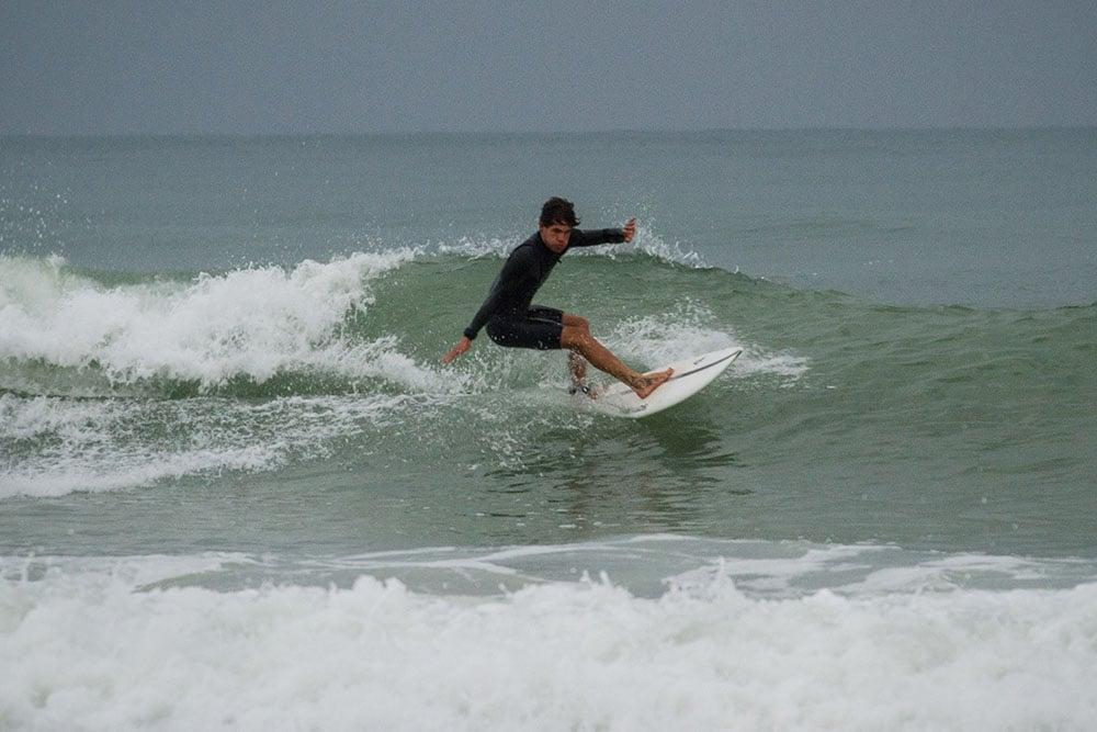 retro surfboard fish