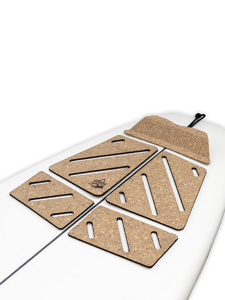 Learning traction pad surfboard